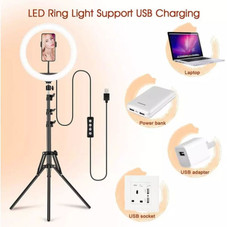 """12"""" Selfie LED Ring Light with Tripod Stand and Phone Holders for Camera"""