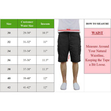 Men's Cotton Stretch Belted Cargo Shorts