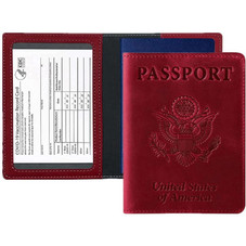 Passport Holder with CDC Vaccination Card Protector - 1 or 2 Pack