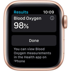 New Apple Watch Series 6 GPS, 40mm - Gold Aluminum Case with Pink Sand Sport Band
