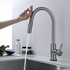 Touch-On Kitchen Faucet with Pull-Down Sprayer