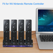 Quad Charging Station for Wii Remote with 2800mAH Battery Pack