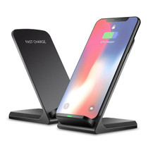 Wireless Fast Charger for Qi Devices with USB Wall Charger - 1, 2 or 3 Pack