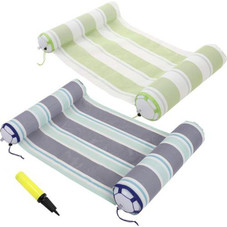 PVC Inflatable Hammock Pool Lounger - 2 Pack