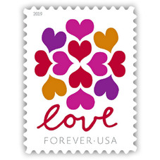 USPS Forever Stamps, USA Flag or Love - 100 Pack
