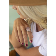 Oval Crystal, Boho Chic, Gypsy Stone Ring for Women