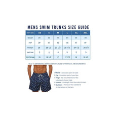 Suslo Couture Men's Quick Dry Printed Swim Trunks with Front and Back Pockets