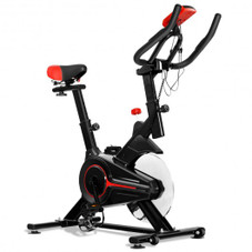 Professional Stationary Indoor Exercise Cycling Bike with Heart Rate Sensors and LCD Display