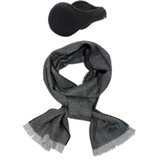 180s Men's American Wool Behind-the-Head Ear Warmer and Scarf