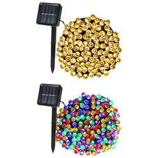 SolarEK Fairy Solar 100-LED String Lights with Ground Stake - 1 or 2 Pack