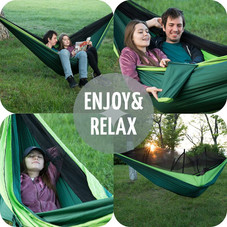 Zone Tech Camping Hammock with Mosquito Net - Single or Double Person Use