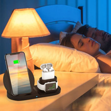 Wireless 10W Fast Charging Station for Apple iPhone and iWatch