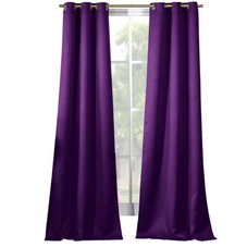 """Solid Blackout Thermal Grommet Window Curtains, 38"""" x 84"""" - Set of 2"""