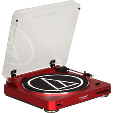Audio-Technica AT-LP60RD-BT Fully Automatic Bluetooth Wireless Belt-Drive Stereo Turntable Red
