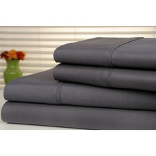 Bamboo Luxury 1800 Thread Count Solid Sheet Set - 4 Pieces