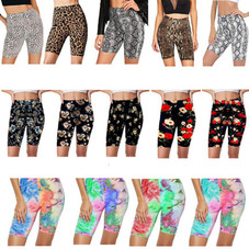 Women's Slim Fit Comfy Stretchy Elastic Waistband Workout Short Leggings - 4 Pack