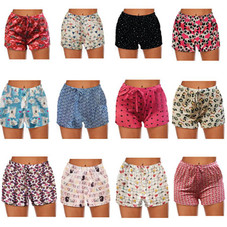 Mystery Deal: Women's Comfy Lounge Bottom Pajama Shorts with Drawstring - 4 Pack