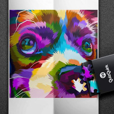 QuizQuirk 1000 Pieces Colorful Lion and 1000 Piece Colorful Dog Jigsaw Puzzle for Adults