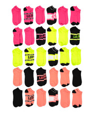 Soxo Women's Assorted Style Low-Cut Socks, 30 Pairs