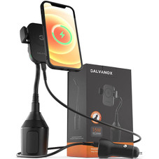Galvanox Car Phone Mount for iPhone 12/Pro/Max, fits MagSafe Wireless Charger 15W
