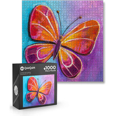 QuizQuirk 1000 Piece Butterfly Puzzle and 1000 Piece Campfire Couple Jigsaw Puzzle