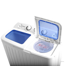 17.6lbs Compact Twin Tub Washing Machine and Spin Dryer