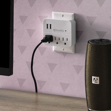 Aduro Surge Multi Charging Station with 3 Outlets and Dual USB Ports - 2 Pack