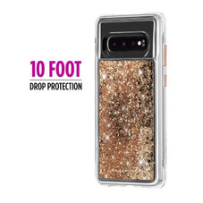 Case Mate Waterfall Case for the Samsung Galaxy S10, Gold, CM038546