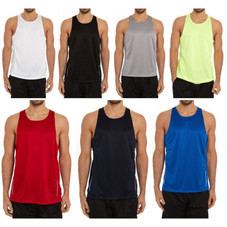 Men's Active Athletic Performance Tanks - 2 Pack