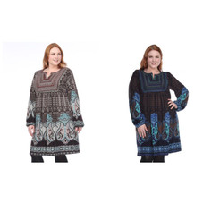 Women's Plus Size Phebe Embroidered Sweater Dress by Whitemark
