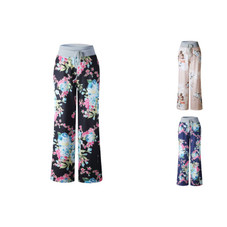 Women's Floral Pants with White Waist by Lilly Posh
