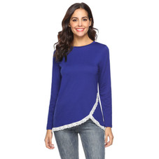Women's Rounded Lace Bottom Shirt by Lilly Posh