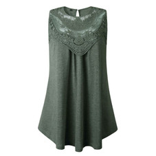 Women's Lace Front Scoop Top by Lilly Posh