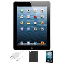 Apple iPad 4 Retina Bundle with Case, Charger & Screen Protector
