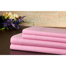 Bibb Home Egyptian Collection Floral Embossed Microfiber Sheet Set - 4 Pieces