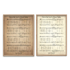 Christ The Lord Is Risen Today Hymn Decorative Print