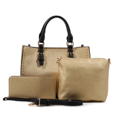 MKF Collection Faith Satchel, Crossbody Bag and Matching Wallet