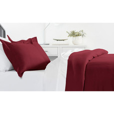 Ultra-Soft Solid Duvet Cover Sets - 2 or 3 Piece