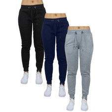 Women's Classic French Terry Jogger Lounge Pants - 3 Pack
