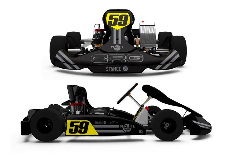 STRIPES BLACK Series Kart