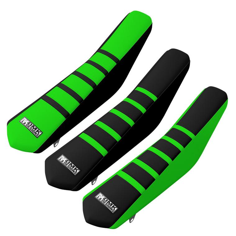 Green Ribbed Seat Cover Kawasaki