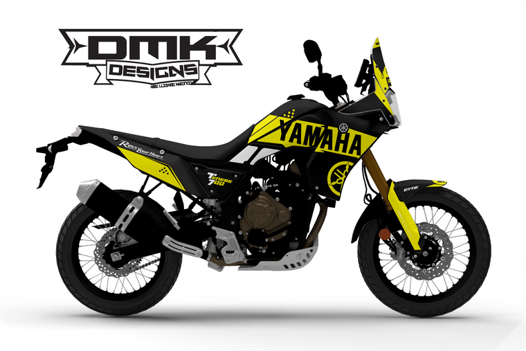 Yellow Yamaha Series Tenere 700