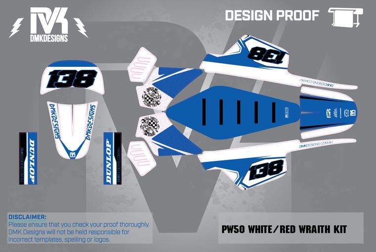 PW50 White/Blue Wrath  Kit