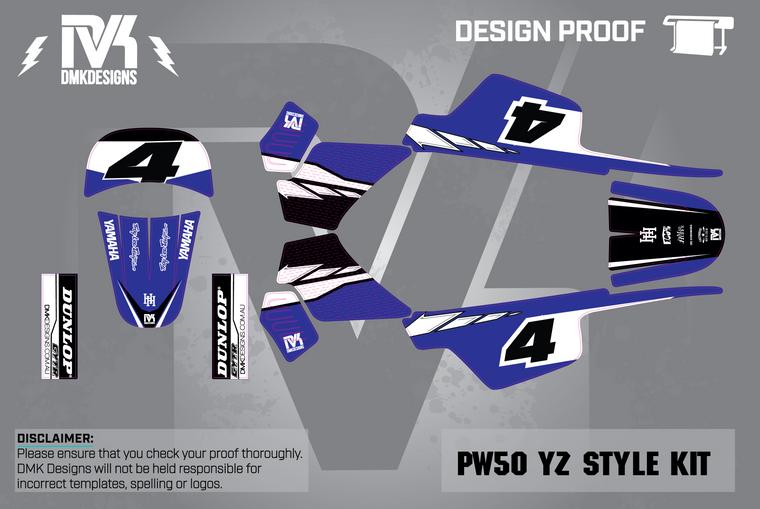 PW50 YZ Blue Kit