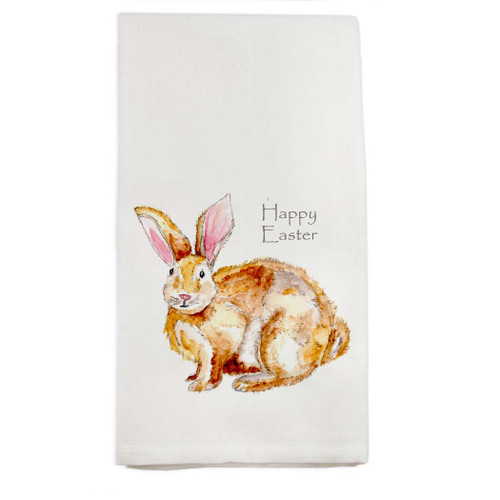 Easter Bunny Fluffy Dishtowel