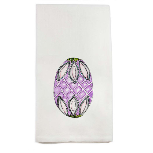 Fab Egg Purple Dishtowel