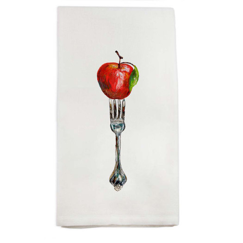 Fork with Apple Dishtowel