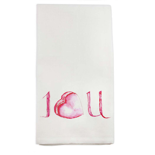I Love You Macaroon Dishtowel