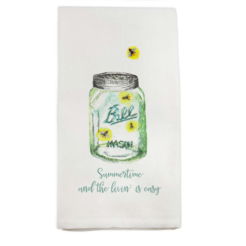 Summertime Living Is Easy Dishtowel