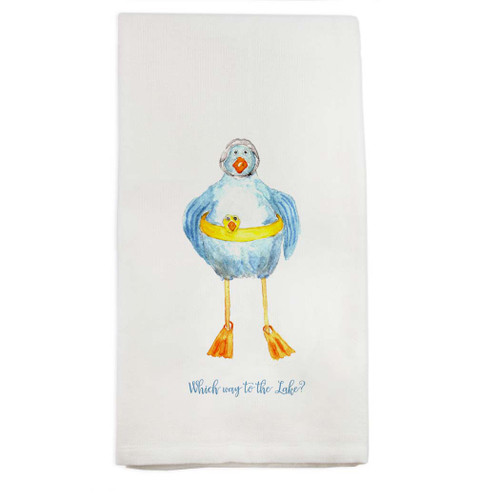 Duck Which Way to the Lake Dishtowel